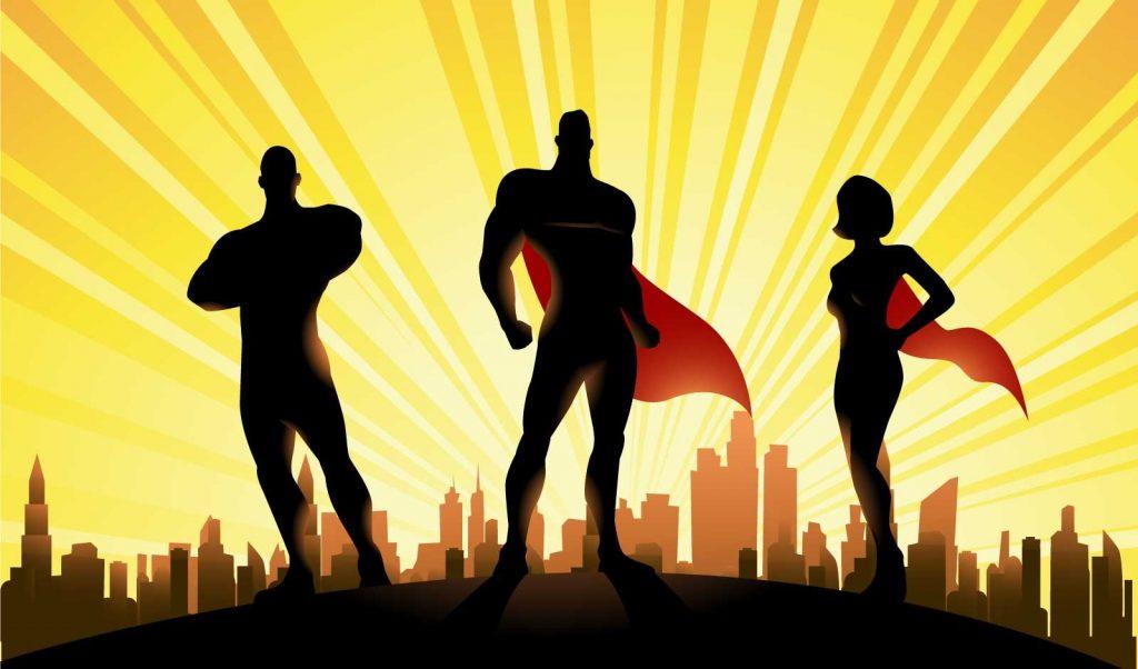 Three Superheroes.